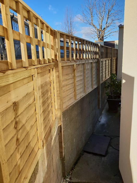 after new fence installed