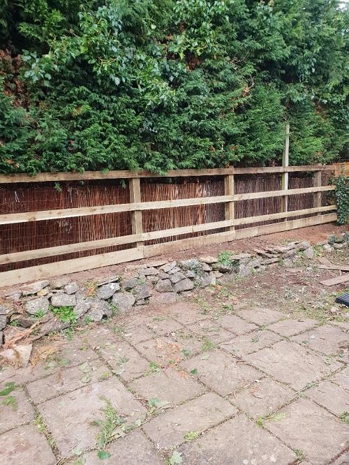 finished fence
