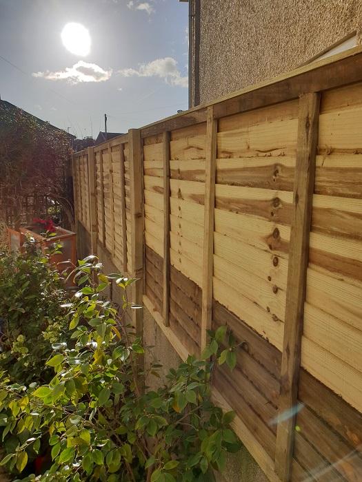 new garden fence installation