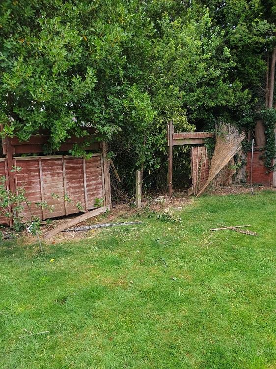 original broken fence